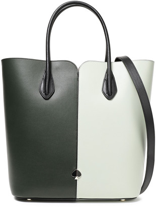 Kate Spade Nicola Two-tone Appliqued Leather Shoulder Bag