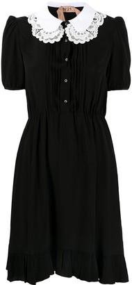 No.21 Contrasting Collar Mini Dress