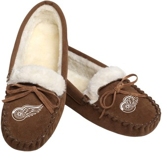 Women's Detroit Red Wings Moccasin Slippers