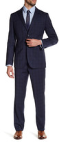 Zanetti Blue Plaid Two Button Notch Lapel Wool Slim Fit Suit