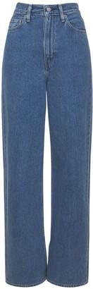 Ganni Levi's Medium Indigo Slit High Jeans