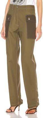 Loewe Cargo Trouser Pant in Khaki Green | FWRD