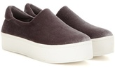 Opening Ceremony Cici Velvet Platform Slip-on Sneakers