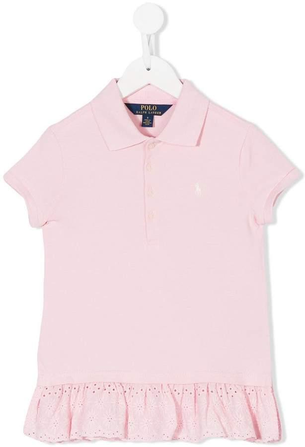 Ralph Lauren Kids eyelet hem polo shirt