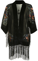 True Decadence Vintage Inspired Kimono, Black
