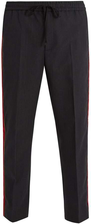 Gucci Velvet side-stripe cotton trousers