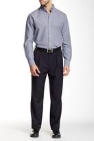 Louis Raphael Solid Herringbone Super 150 Straight Fit Double Pleat Pant