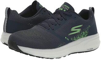 Skechers Go Run Ride 8 (Navy/Green) Men's Shoes