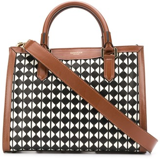 SERAPIAN Checked Print Tote