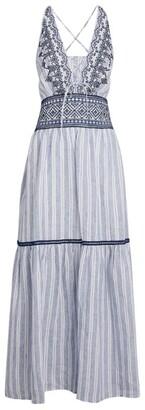 Ermanno Scervino Striped Tiered Maxi Dress