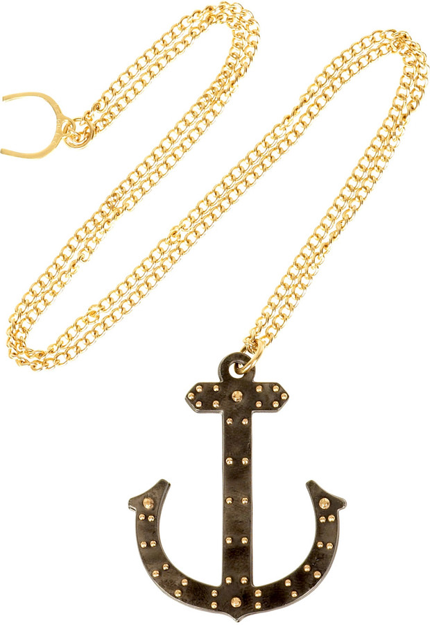 Philip Crangi Anchor pendant necklace