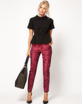 ASOS Floral Jacquard Trousers