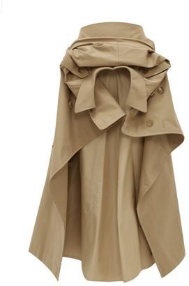 Junya Watanabe Deconstructed Cotton-blend Gabardine Skirt - Beige