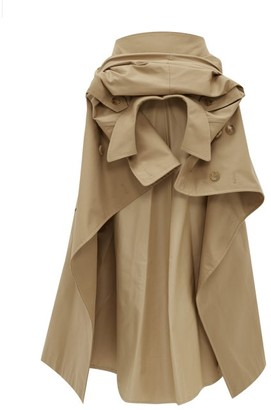 Junya Watanabe Deconstructed Cotton-blend Gabardine Skirt - Womens - Beige