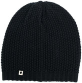 Twin-Set ribbed beanie hat