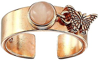 Alex and Ani Butterfly Charm Ring (Rose Gold) Ring