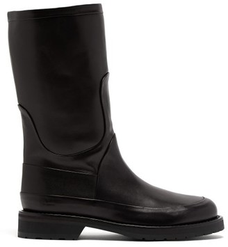 Ann Demeulemeester Panelled Leather Boots - Womens - Black