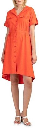 Trina Turk Incandescence High-Low Shirtdress