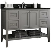 """CNC Costume National Cabinetry Vanguard 48"""" Single Bathroom Vanity Base Only Cabinetry Base Finish: Dove Grey"""