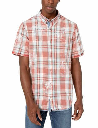 Buffalo David Bitton Men's Short sleevelight Plaid Shirt
