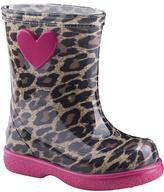 Igor Fuchsia & Tan Leopard Pipo Rain Boot