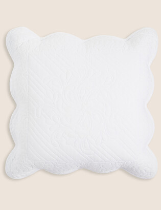 Marks and Spencer Pure Cotton Embroidered Trapunto Cushion