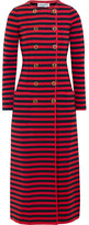 Sonia Rykiel Striped Knitted Double-breasted Coat - Red