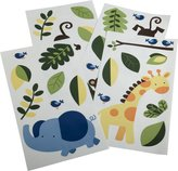 Kids Line Jungle 123 Wall Decals, 4-Pack