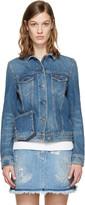 Valentino Blue Denim Rockstud Untitled Jacket