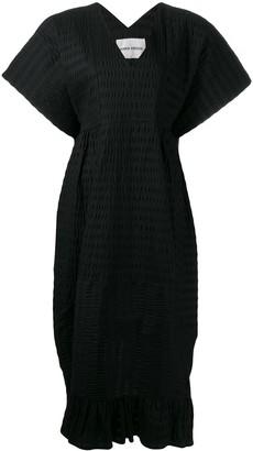 Henrik Vibskov Ruched Pattern Midi Dress