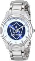Game Time Women's MLS-WCD-LA Wildcard Triple Silver Stone Analog Display Japanese Quartz Silver Watch