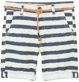 MANGO Boys Striped Cotton Bermuda Shorts