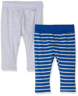 Playshoes Baby Leggings Blau Gestreift Und Grau Im 2er Pack,(Size: /68) (Pack of 2)
