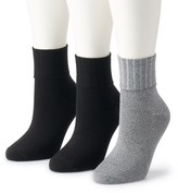 Women's SONOMA Goods for Life 3-pk. Turn Cuff Ribbed Crew Socks