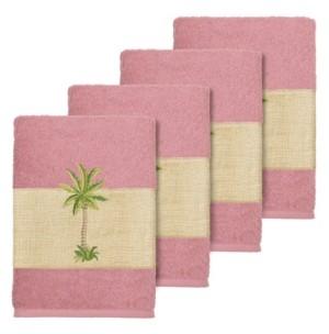 Linum Home Turkish Cotton Colton 4-Pc. Embellished Washcloth Set Bedding