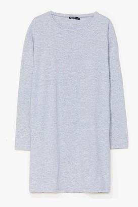 Nasty Gal Womens Sleeve Your Mark Plus Tee Dress - Grey - 18