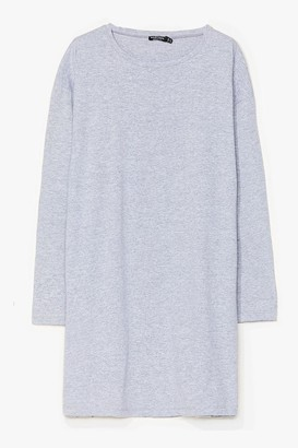 Nasty Gal Womens Sleeve Your Mark Plus Tee Dress - Grey