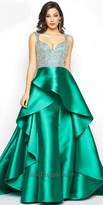 Mac Duggal Embellished Layered Waterfall Evening Gown