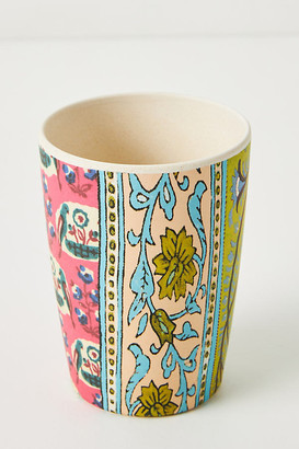 Anthropologie Blockprint Bamboo Melamine Tumbler By in Pink Size MUG/CUP