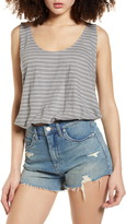 Project Social T I Wanna Be Stripe Button Back Tank