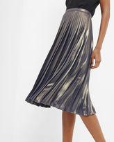Ted Baker Pleated metallic midi skirt