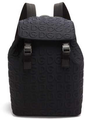 Dolce & Gabbana embossed Neoprene Backpack - Black