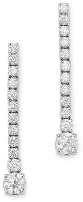 Bloomingdale's Diamond Linear Drop Earrings in 14K White Gold, 1.50 ct. t.w. - 100% Exclusive