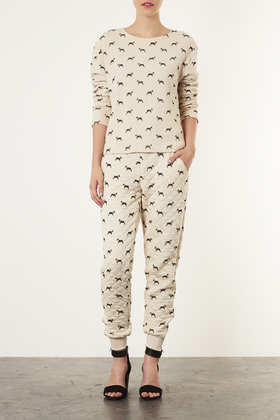 Topshop Quilted Dog Sweat