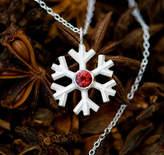 William White Snowflake Necklace