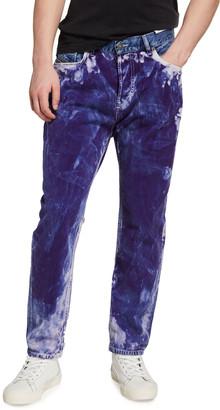 Diesel Men's D Vider Coated Denim Jeans