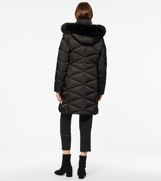 Andrew Marc Truvy Diamond Quilted Fitted Down Coat