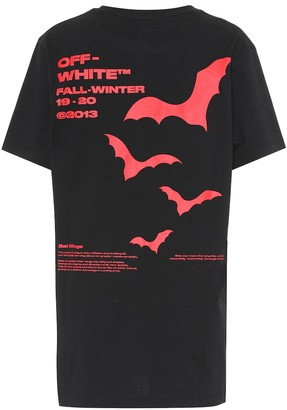 Off-White Off White Bat printed cotton T-shirt