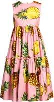 Dolce & Gabbana Pineapple-print cotton dress