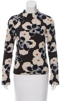 Suno Floral Patterned Long Sleeve Top